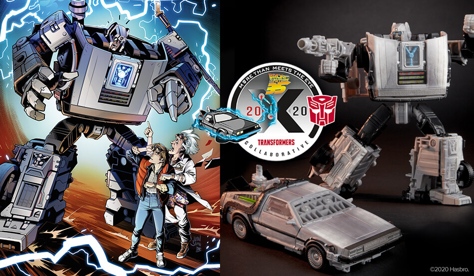 Transformers and Back to the Future Team Up