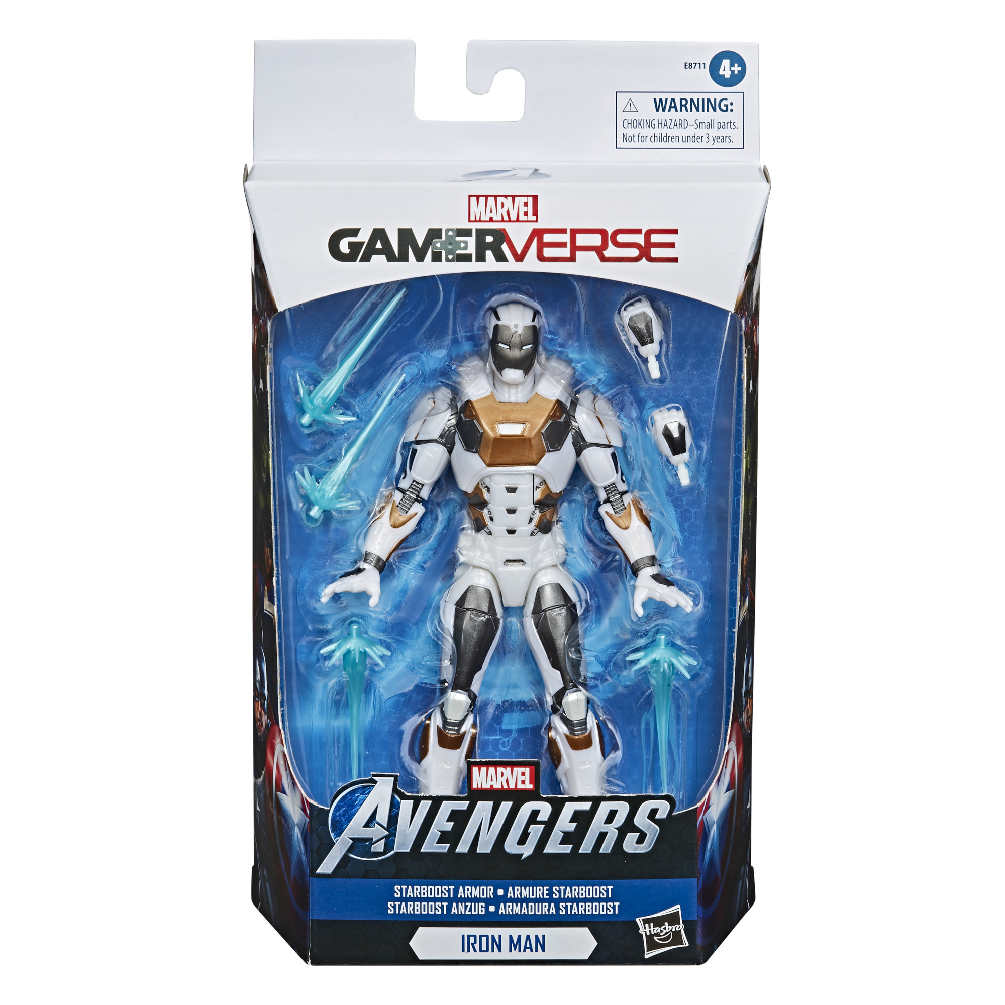E87115L00 Marvel Legends Starboost Iron Man pkg