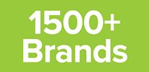 1500+ Brands Logo