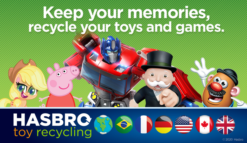Hasbro announces expansion  of Toy Recycling program to UK