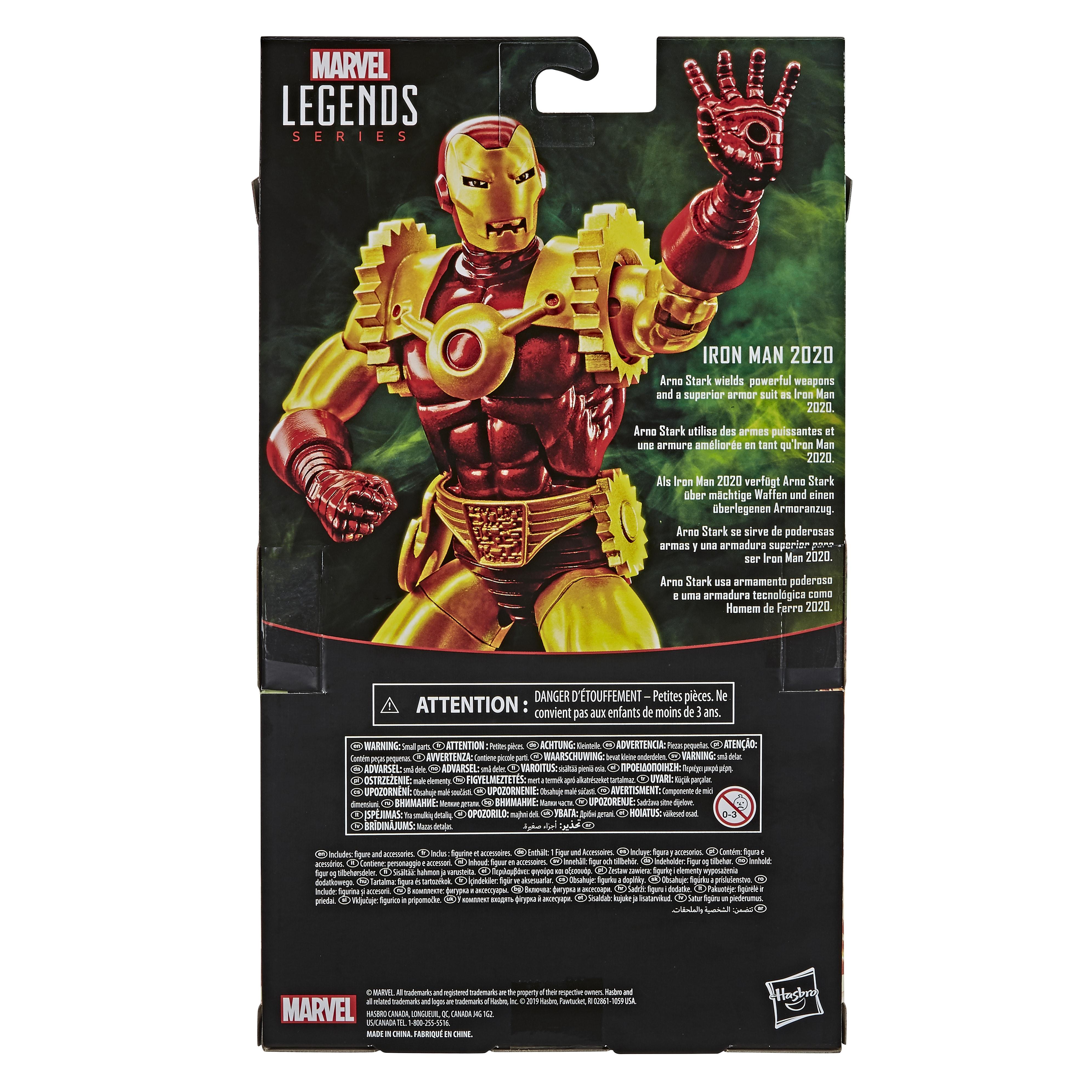 E87085L00 Marvel Legends Iron Man 2020 main back of pack
