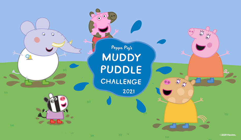 "Peppa Pig Celebrates ""Jump in Muddy Puddles day"" April 1"