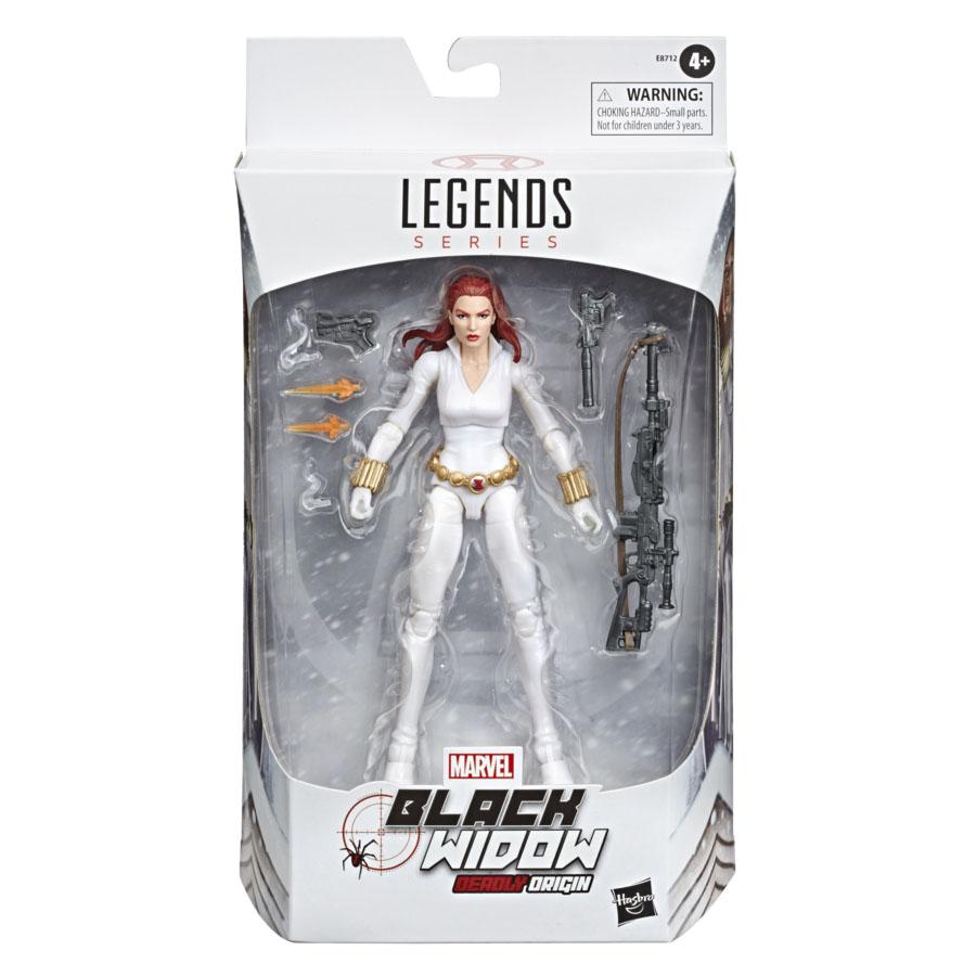 E87125L00 Marvel Legends Black Widow white suit Target Excl pkg