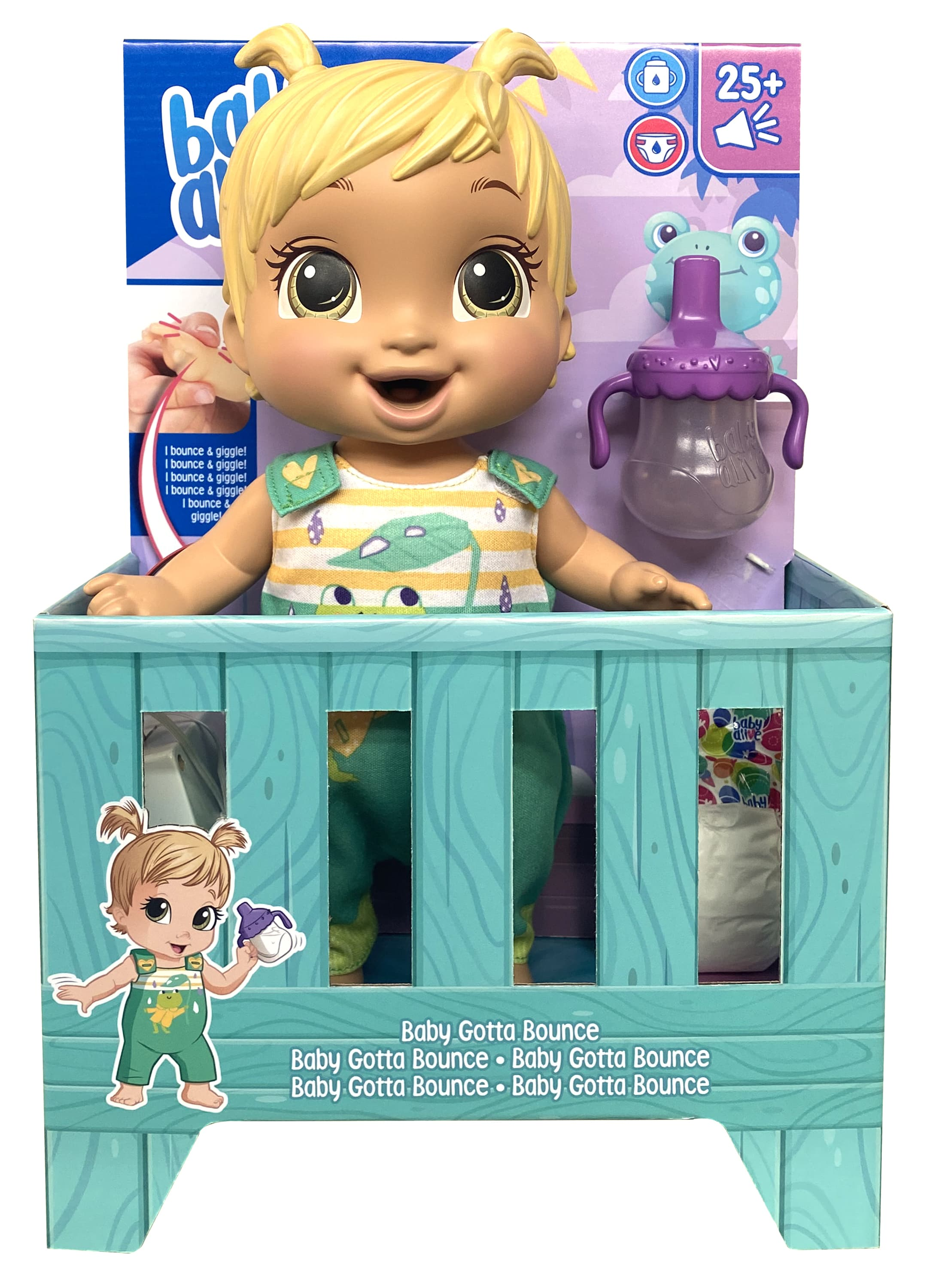 E9427 BABY ALIVE BABY GOTTA BOUNCE 3 In Pack