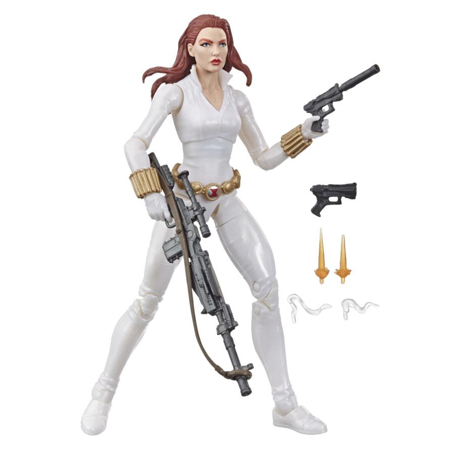 E87125L00 Marvel Legends Black Widow whie suit Target excl main