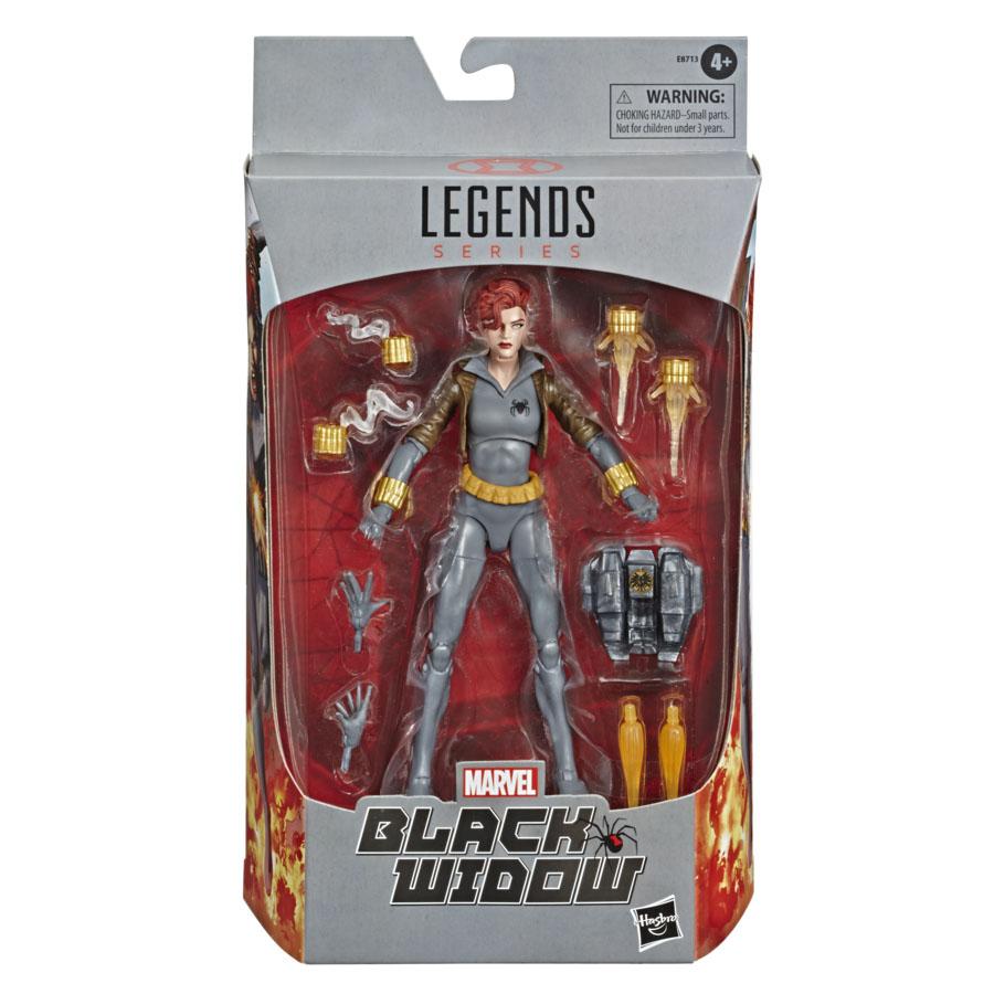E87135L00 Marvel Legends Black Widow grey suit Walmart excl pkg