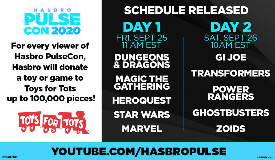 Don't Forget to Tune in to Hasbro PulseCon