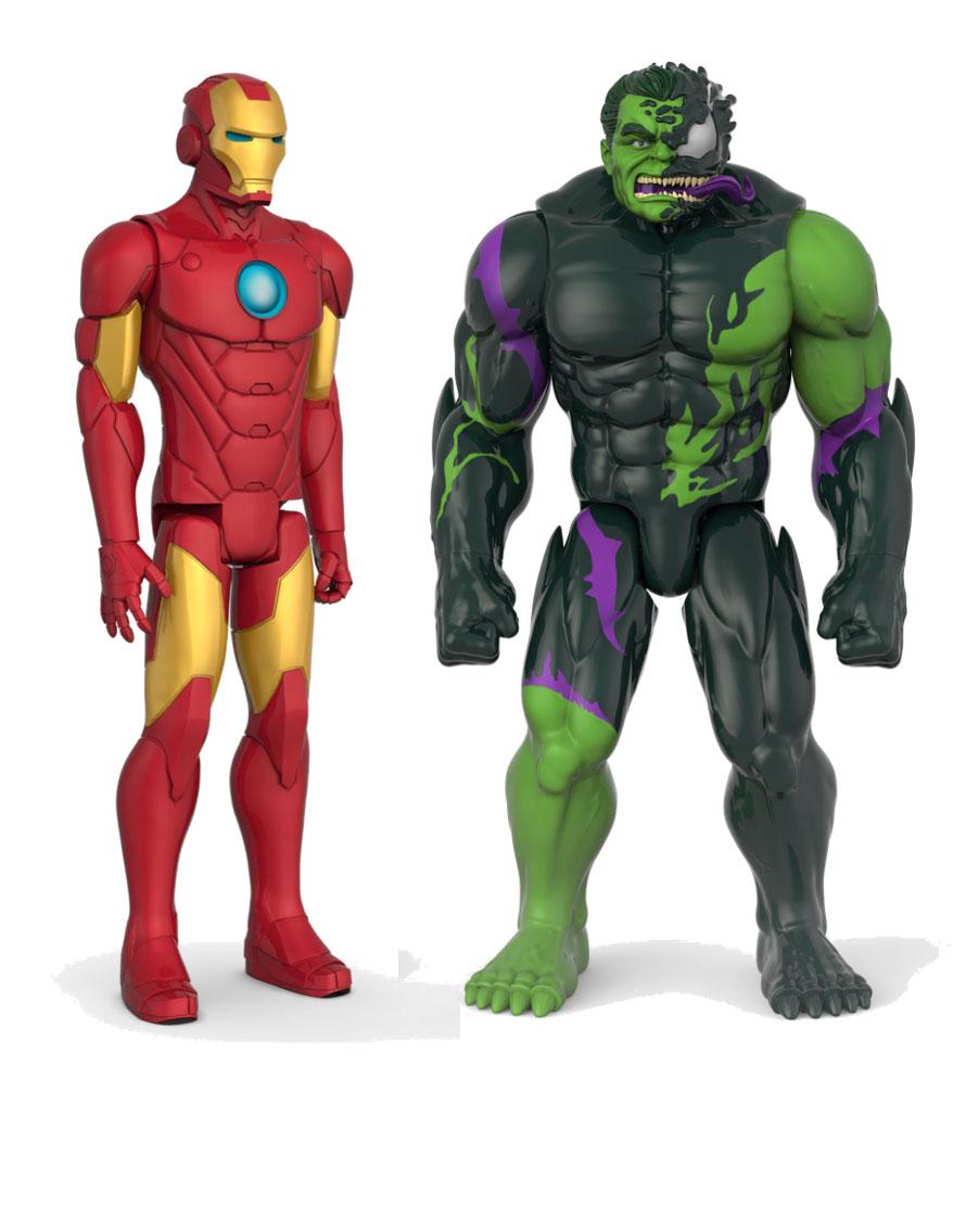 E8685 Titan Hero Venomized Iron Man Hulk 2pk