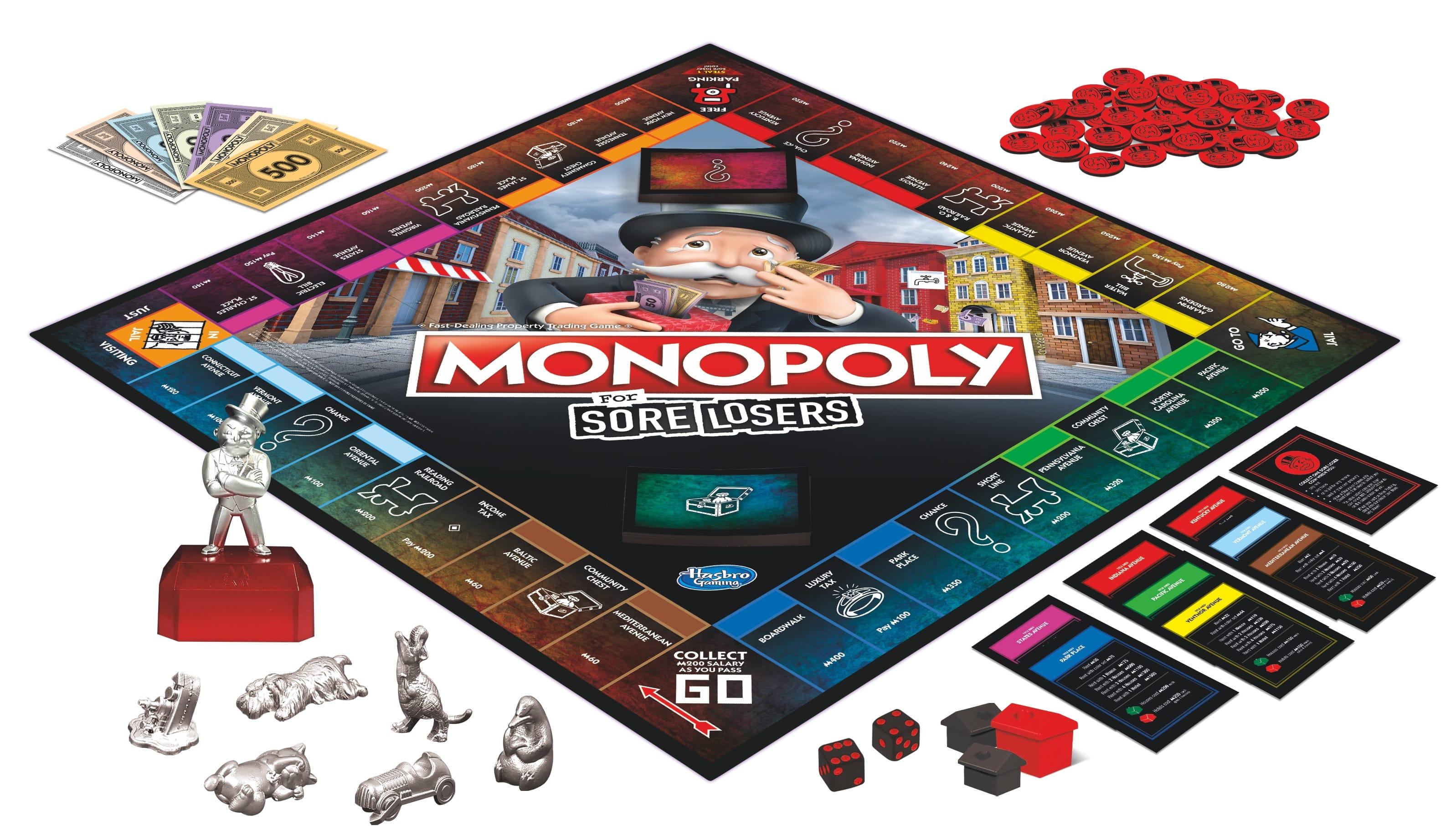 E9972 MONOPOLY Sore Losers board
