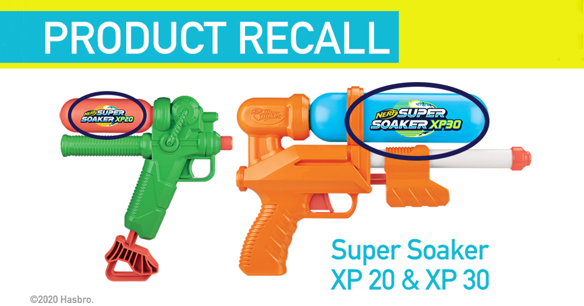Super Soaker recalls two water blasters with decorative stickers containing lead