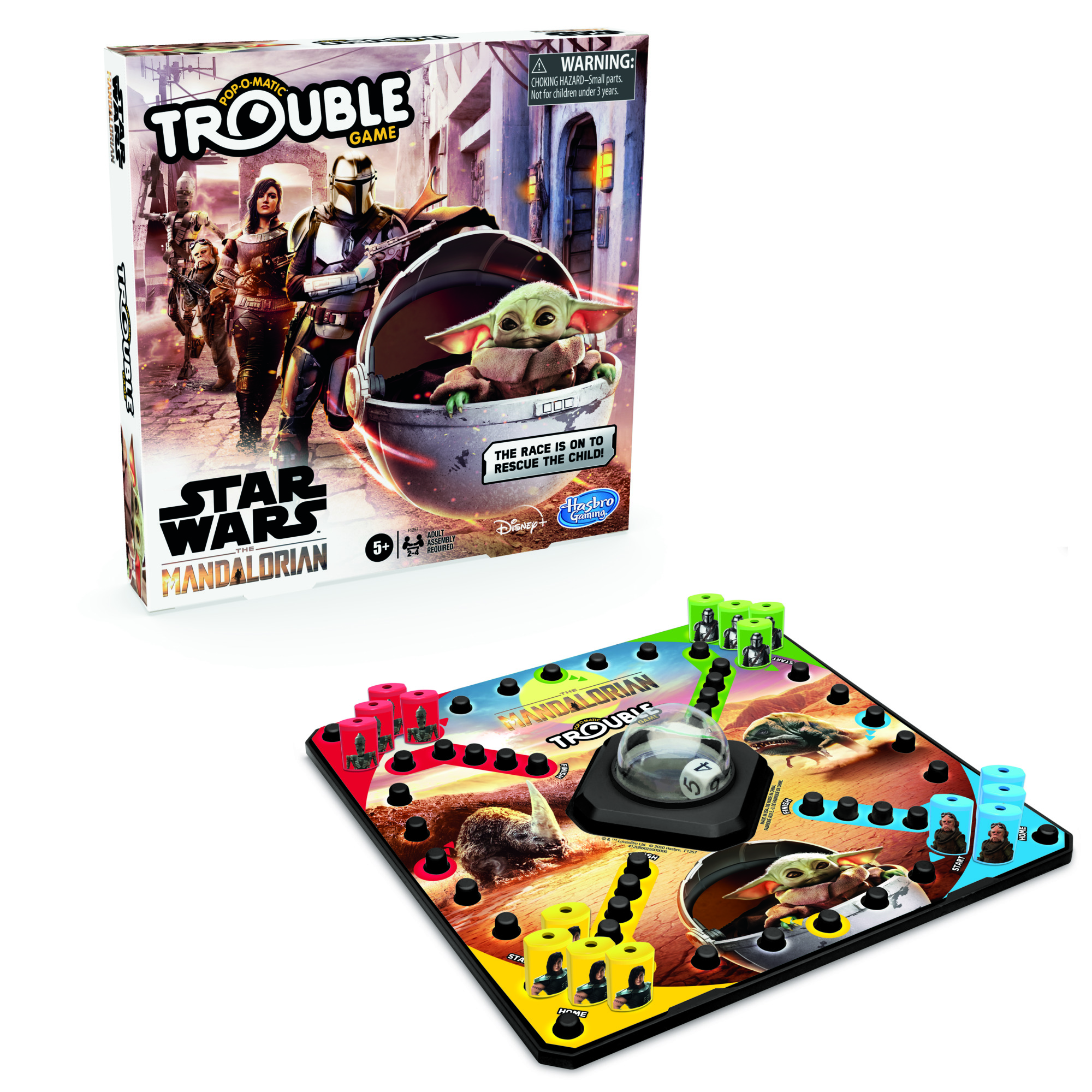 F12570000 Star Wars The Mandalorian Trouble Game 2