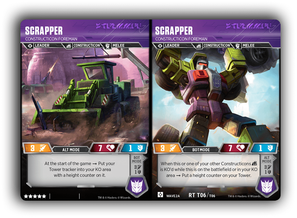 Devastator Scrapper Card