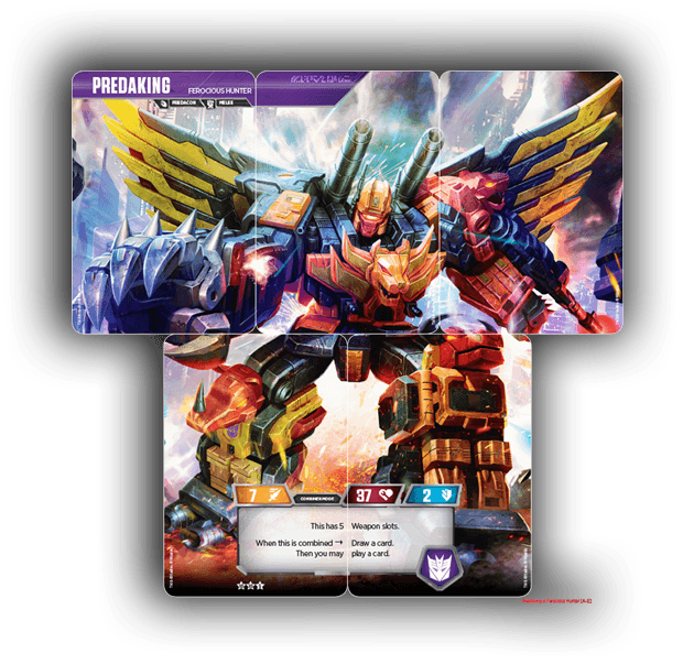 Combiners Predaking card