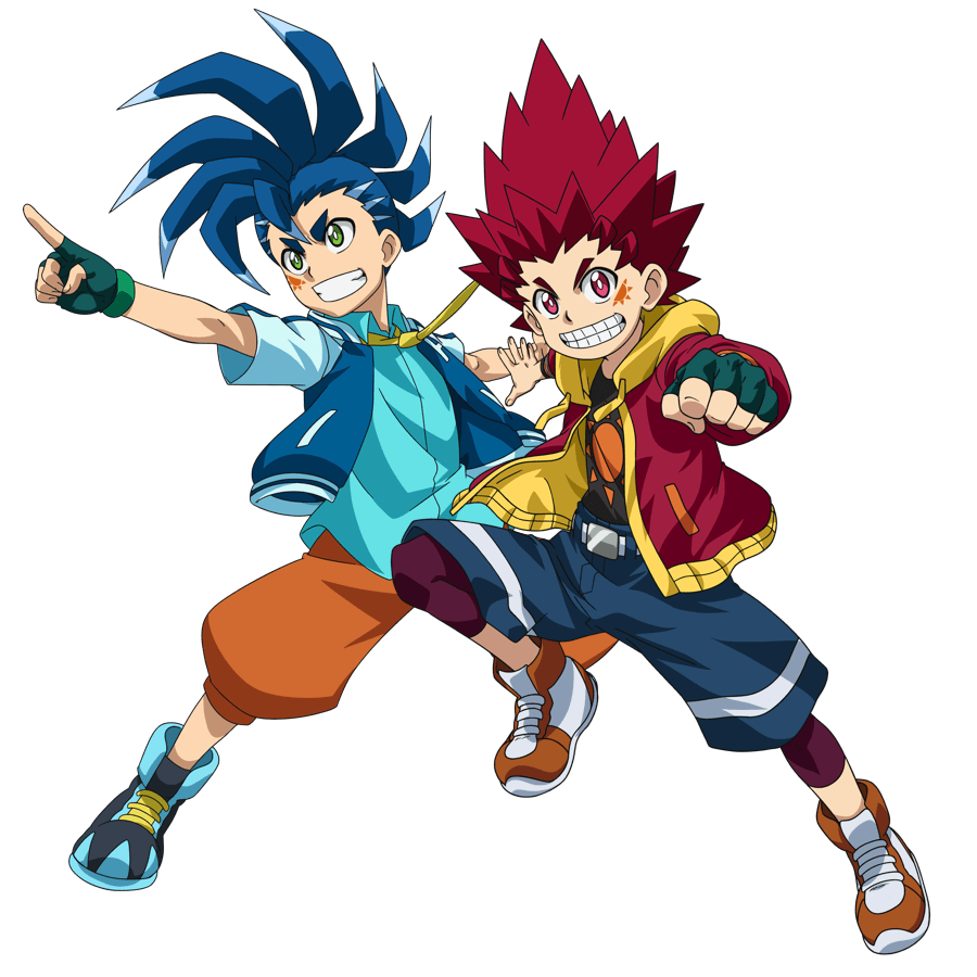 Characters from the Beyblade Burst TV Show