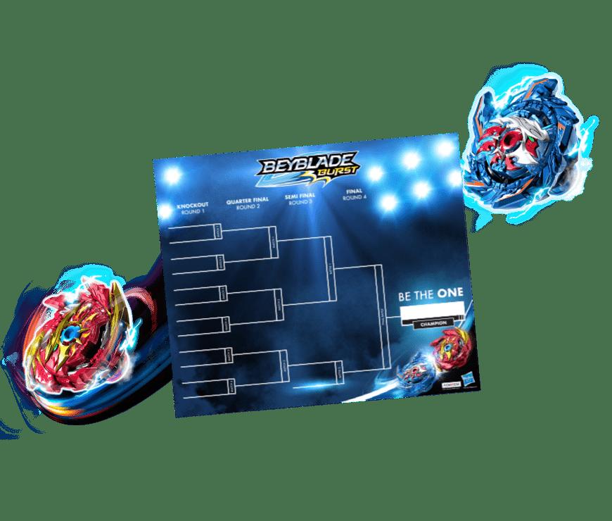 Beyblade Burst Rise tournament bracket.