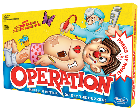 Hasbro Games OPERATION GAME Hero