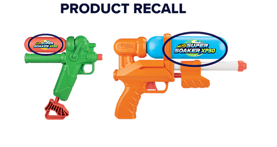 Supersoaker Recalls<br/>XP20 & XP30<br/>Waterblasters