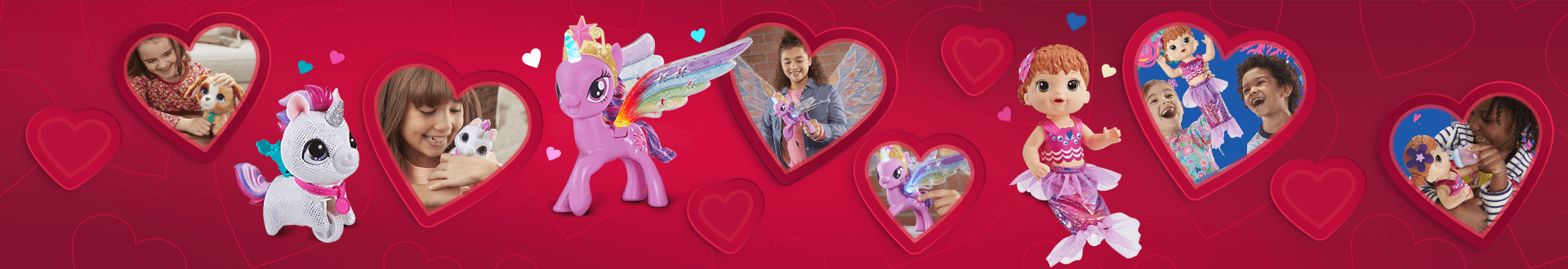 Celebrate love with this cutest furReal, My Little Pony, Baby Alive brands