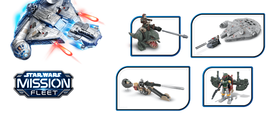 Galactic action and adventure await with figures and vehicles from <i>Star Wars<sup>TM</sup> Mission Fleet!</i>