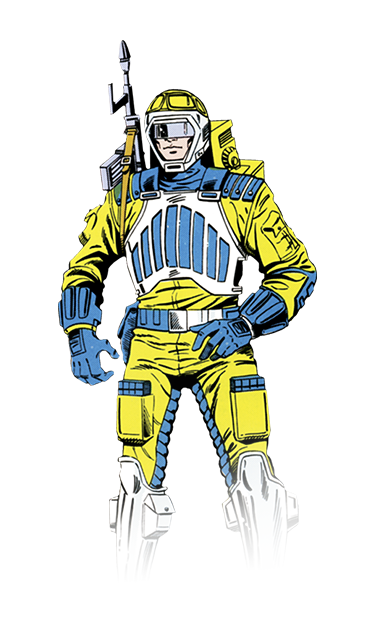 Sci-fi GI JOE action figure