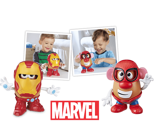 MR. POTATO HEAD IRON MAN &  SPIDER-MAN