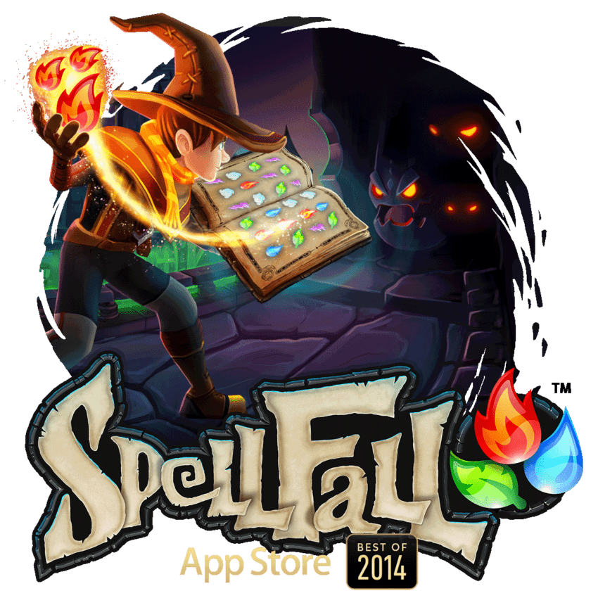Spellfall game mobile app - backflip studios