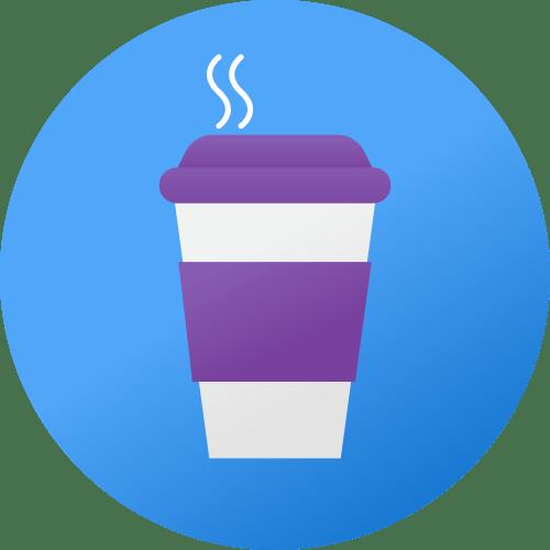 Free snacks & coffee Icon - backflip Studios