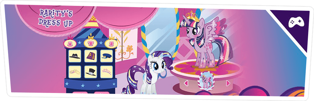 RARITY'S DRESS UP GAME ONLINE