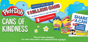 Play-Doh Cans of Kindness Campaign