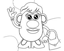 Mrs. Potato Head <br>Coloring Page