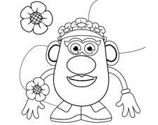 Flower Power <br>Coloring Page
