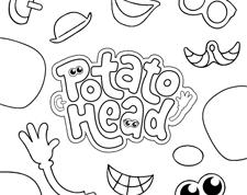 Potato Head <br>Coloring Page