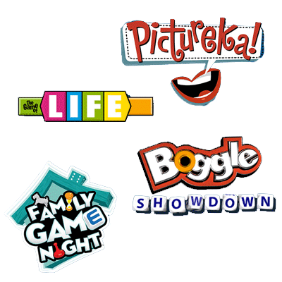 Game Shows Family Game Night to Boggle Showdown to The Game of Life to Pictureka